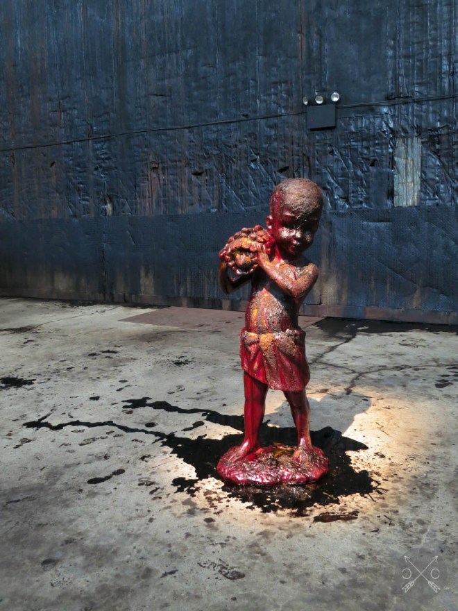 Kara Walker - A Subtlety or the Marvelous Sugar Baby an Homage to the unpaid and overworked Artisans who have refined our Sweet tastes from the cane fields to the Kitchens of the New World on the Occasion of the demolition of the Domino Sugar Refining Plant