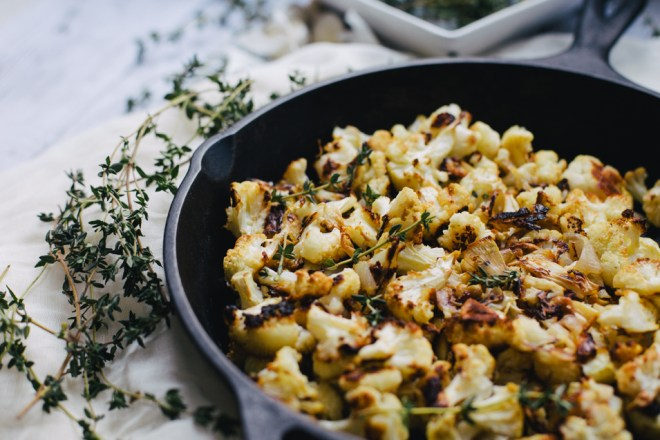 Garlic Roasted Cauliflower | Cultural Chromatics-6