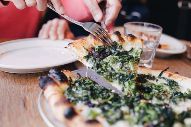 pizzeria delfina - broccoli rabe pizza | cultural chromatics