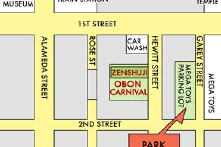 Little Tokyo Parking Map on la live parking, hollywood walk of fame parking, santa monica parking, downtown parking,