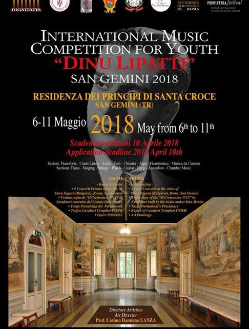 International Music Competition For Youth Dinu Lipatti
