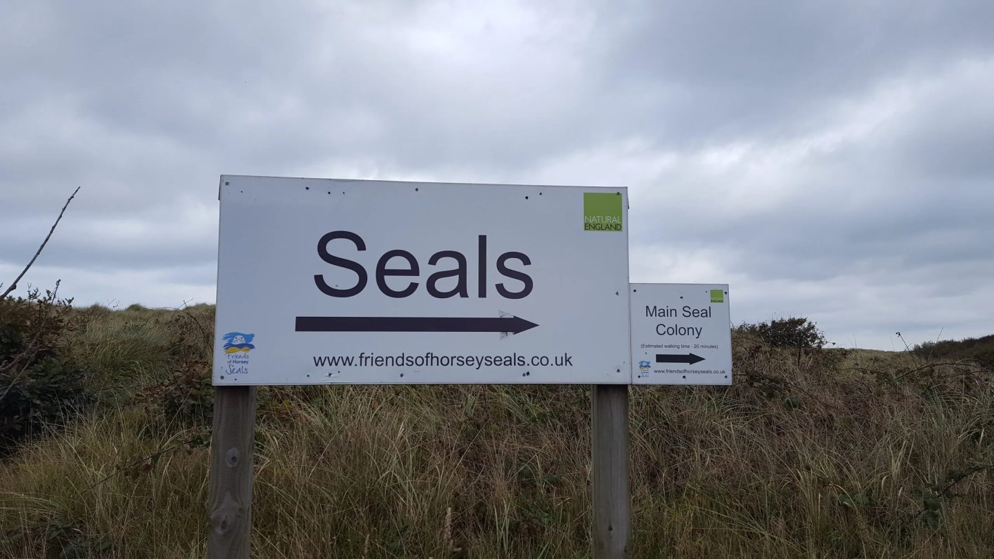 Horsey Gap Seals sign