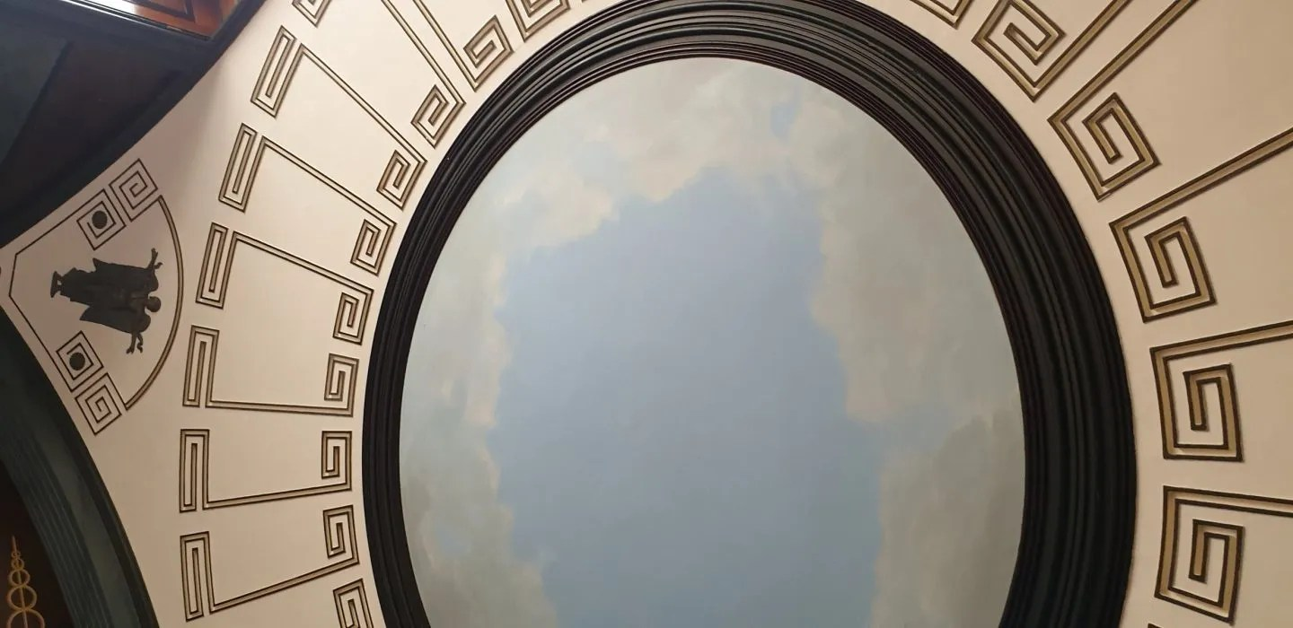 Neo classical ceiling with cloud effect Pitzhanger Manor