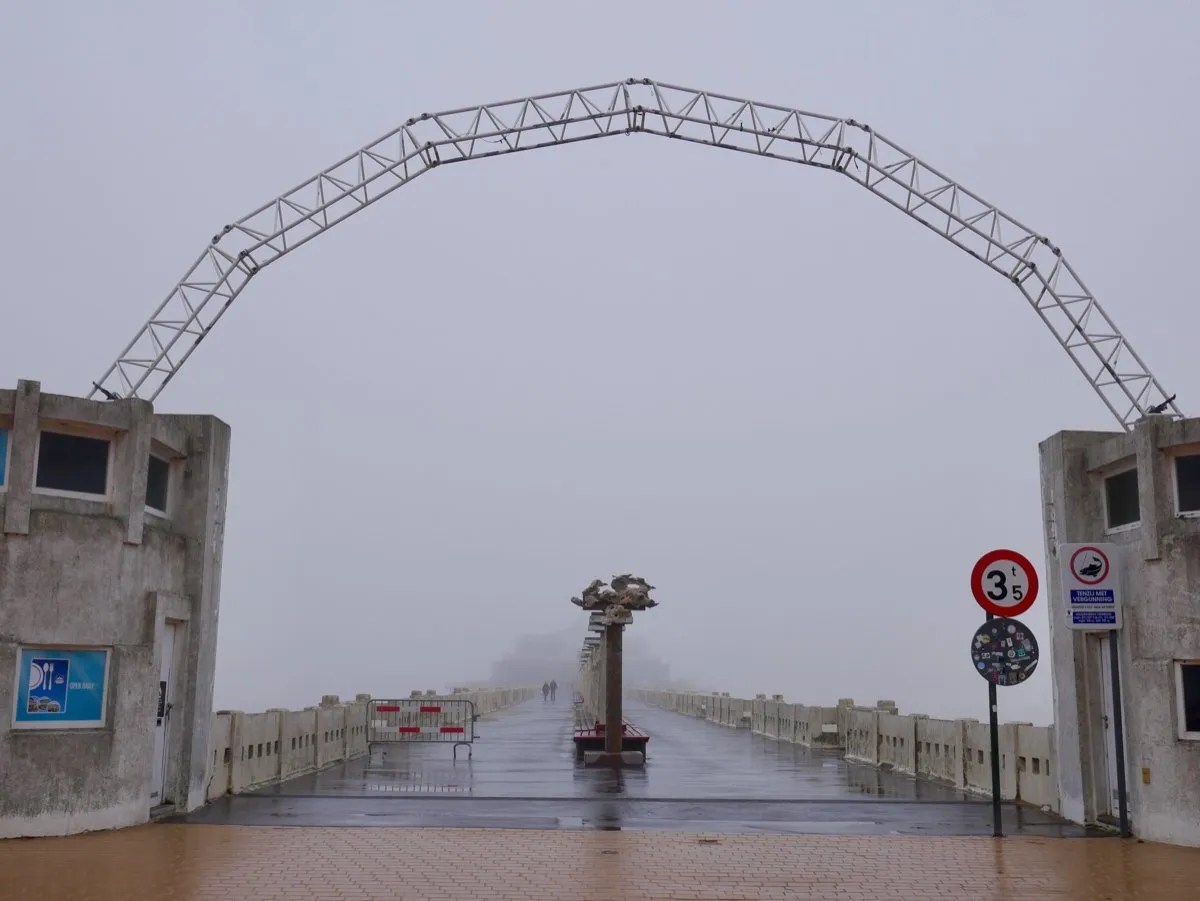 Foggy Blankenberg Pier Belgium