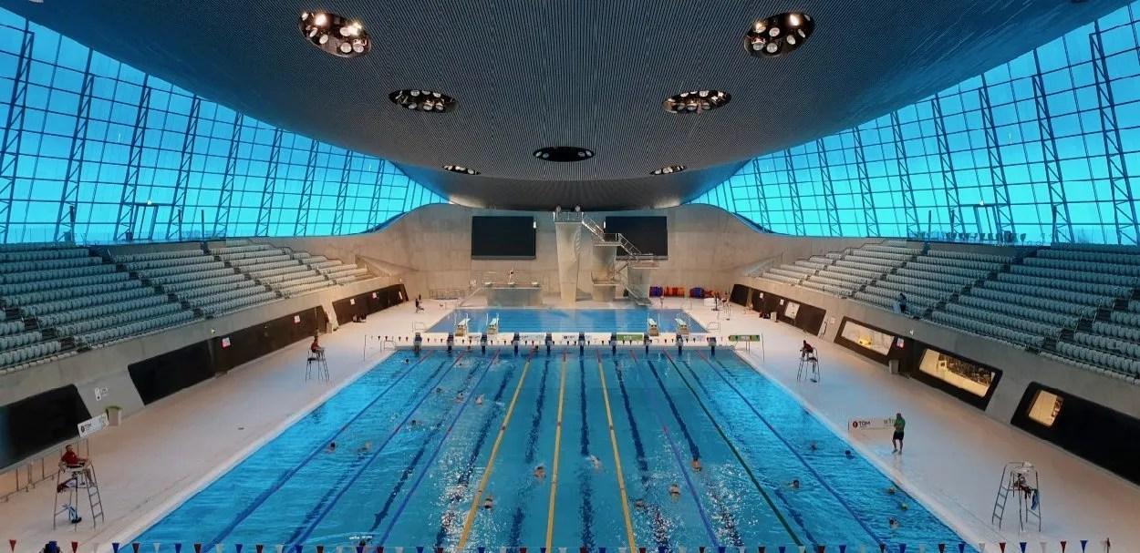 Zaha Hadid designed Olympic Pool London