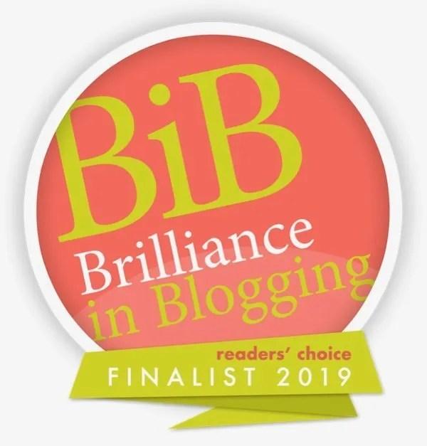 BritMums Brilliance in Blogging badge
