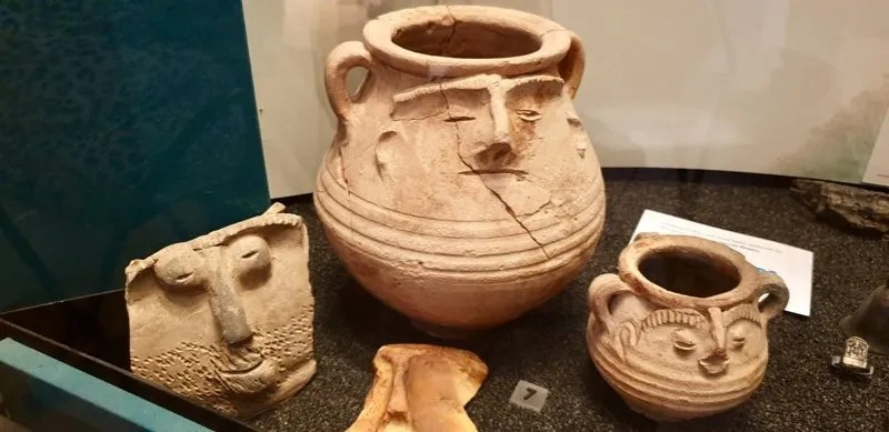 Roman clay face pots