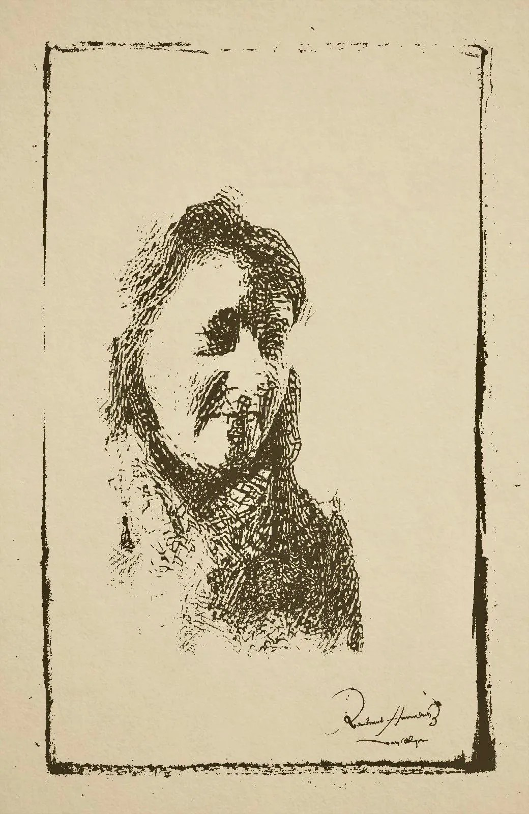 Portrait of a woman in the style of Rembrandt