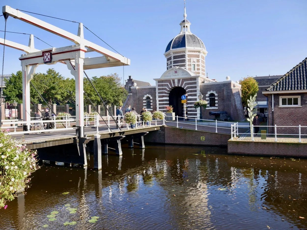 City gate house, dutch bridge and canal