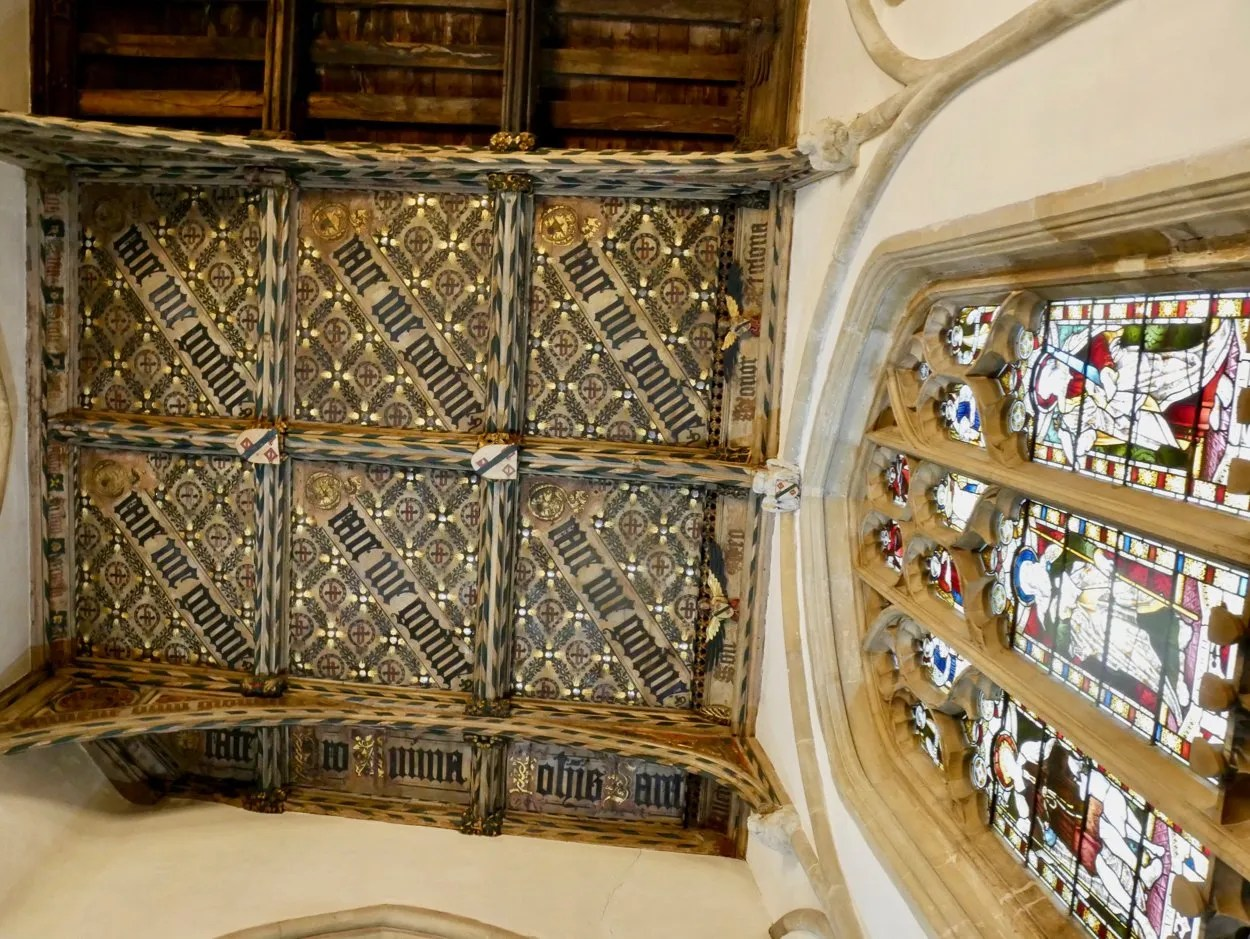Medieval decorated church roof