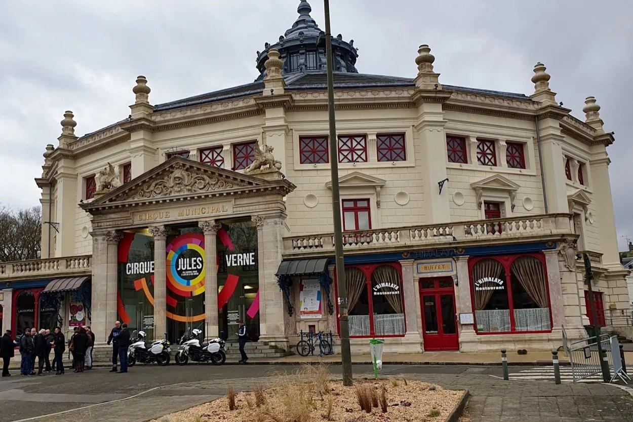 Permanent circus building Cirque Jules Verne Amiens France