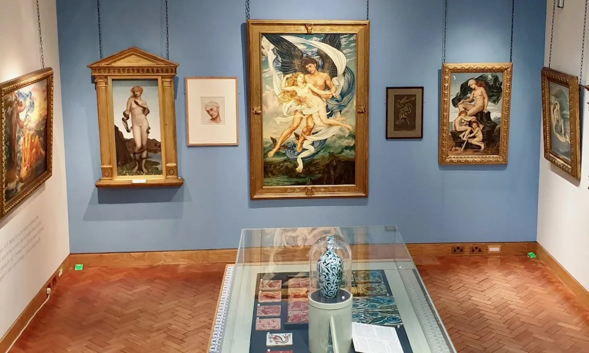 William and Evelyn de Morgan collection pre raphaelites paintings and victorian ceramics in gallery