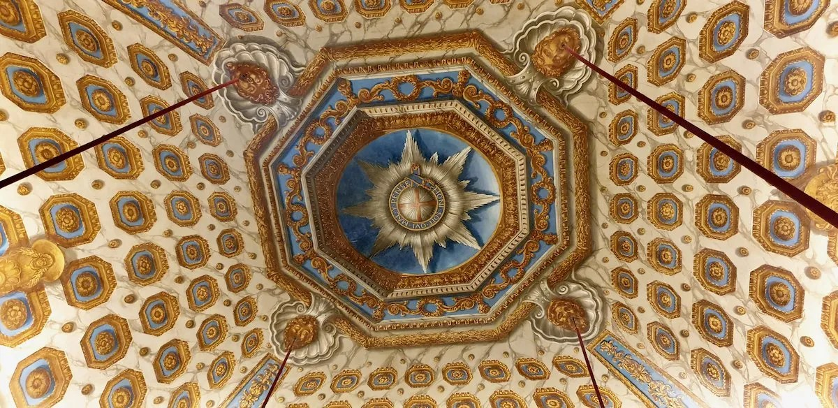 Cupola room ceiling Kensington Palace with Order of the Garter by William Kent