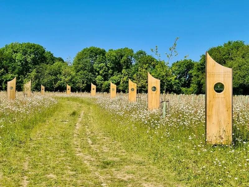 Jutland Wood memorial Langley Vale centenary wood Epsom