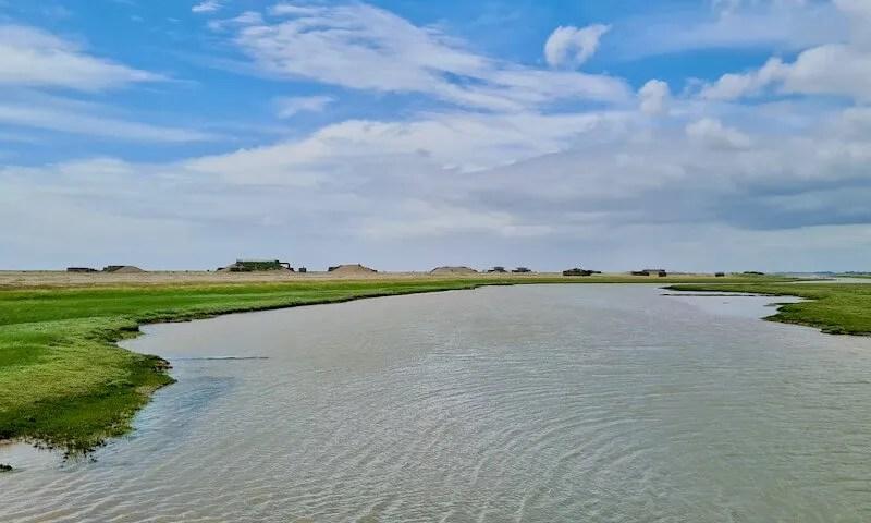 River Ore estuary Suffolk