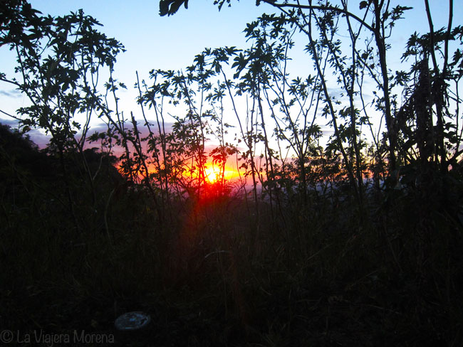 Sunset near the Puerta del Diablo