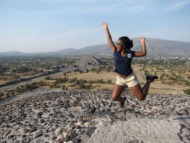 Jumping at Teotihuacán