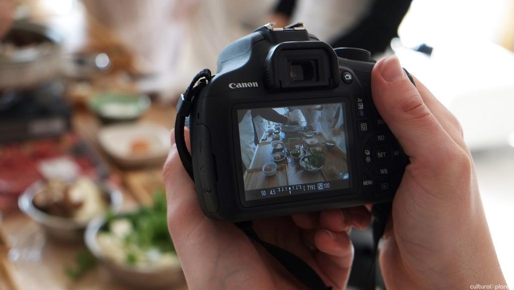 photographing sukiaki