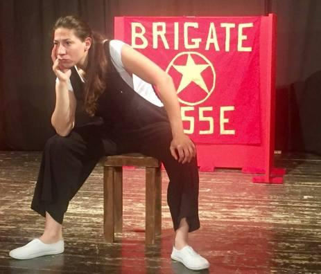 Barbara Grilli nello spettacolo Chi ha paura di Aldo Moro