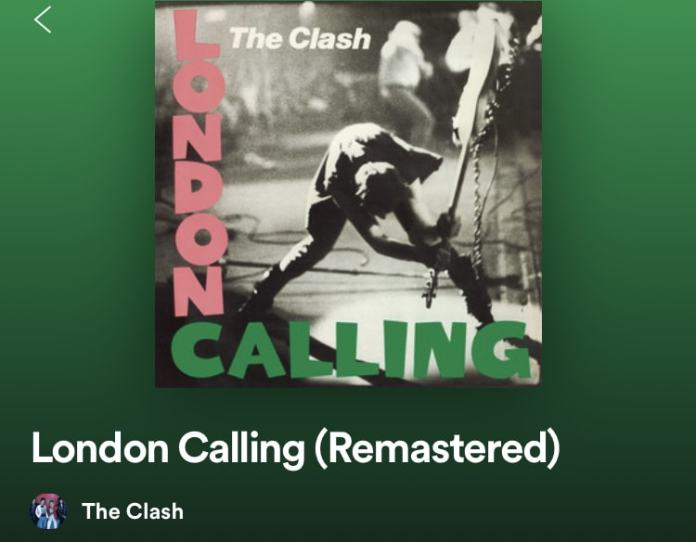 The clash album London calling