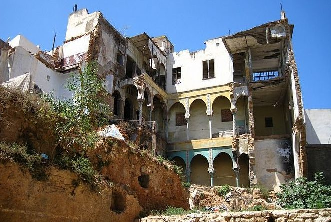 La Casbah d'Alger en ruine