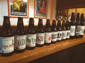 Variedad de estilos de cervezas Lagunitas