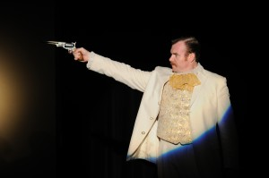 Jeb Kreager as John Wilkes Booth in FREEDOM CLUB.