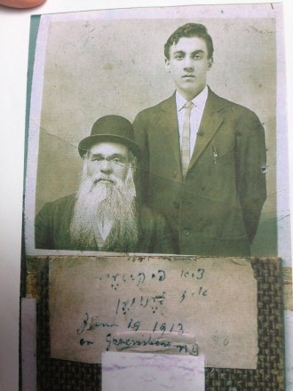 My grandfather Moses with his grandfather Shmuel in 1913
