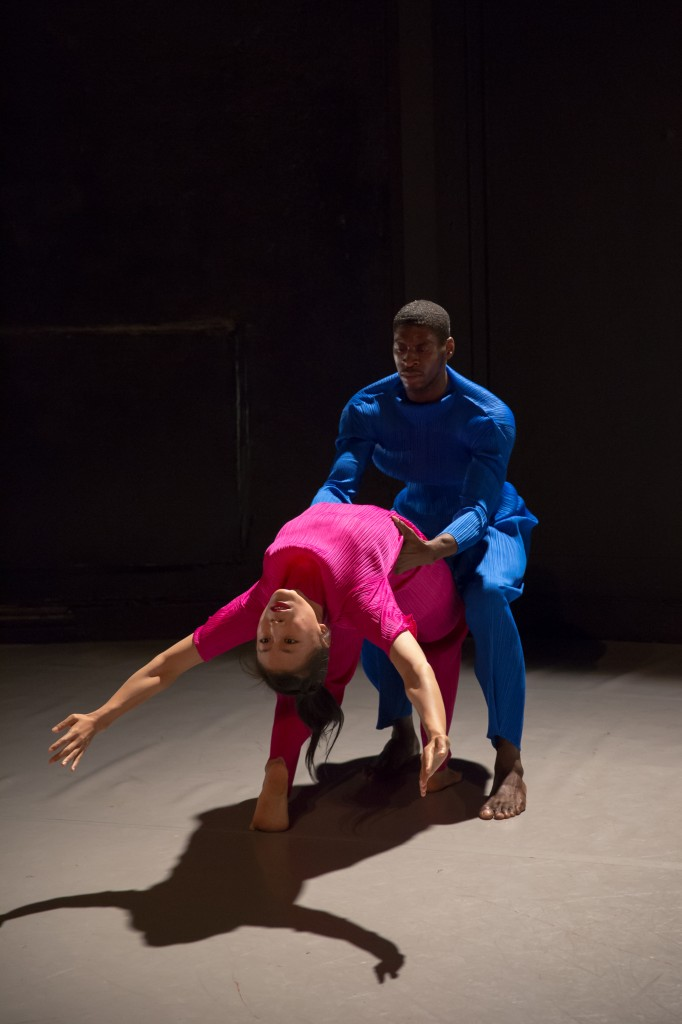 "Dwayne Brown & Jin Ju Song-Begin in Sean Curran's ""Duet Event"" Photo by David Gonsier"