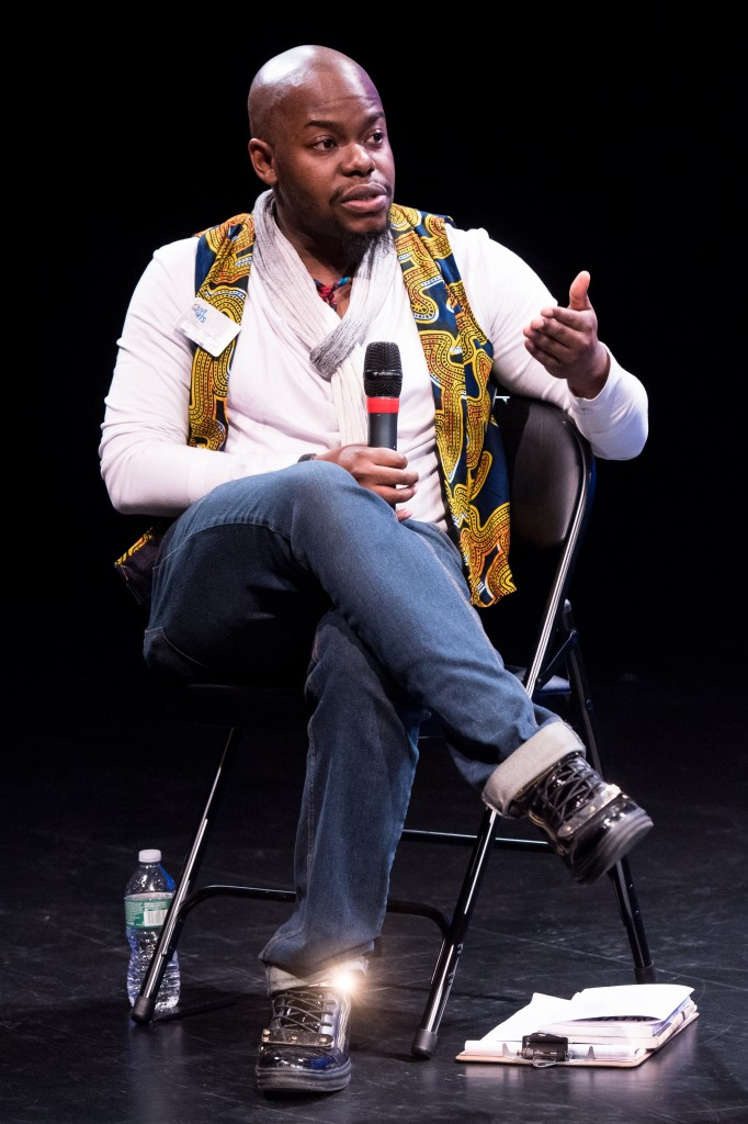 Jaamil Kosoko at Open Spectrum Critical Dialogues, February 22, 2015. Photo by Ian Douglas, courtesy of New York Live Arts.