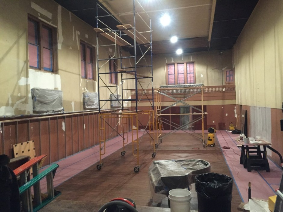 The early stages of renovation at Brooklyn Studios for Dance. Photo by Pepper Fajans.