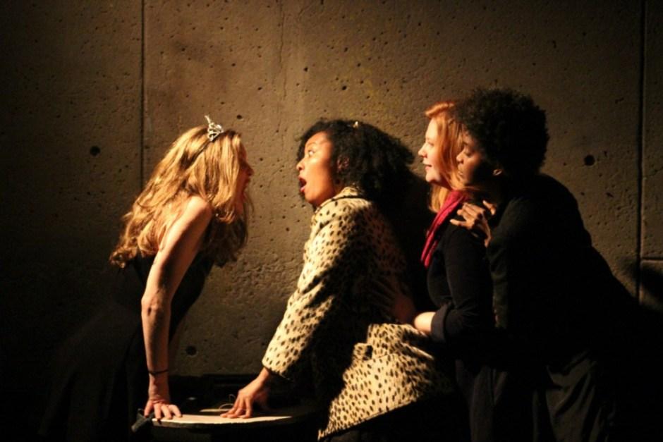 Blair Busbee, Mieko Gavia, Jody Christopherson, Ayesha Jordan in The Reenactors. Photo by Zen Lael