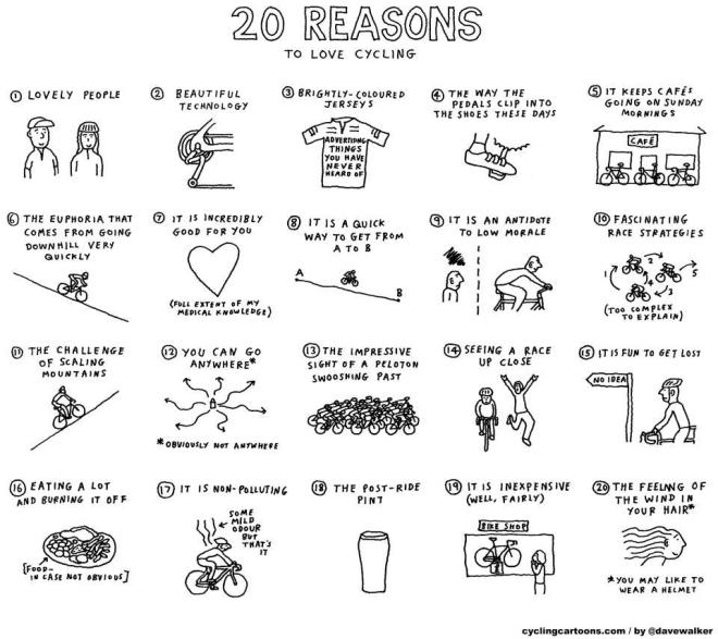 reasons to love cycling