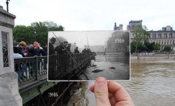 ย้อนรอย 100 ปี 'มหาอุทกภัยกรุงปารีส' เทียบภาพน้ำท่วมครั้งใหญ่ปี 1910 กับ 2016
