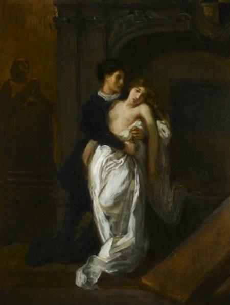 Roméo et Juliette devant le tombeau des Capulets Eugène Delacroix