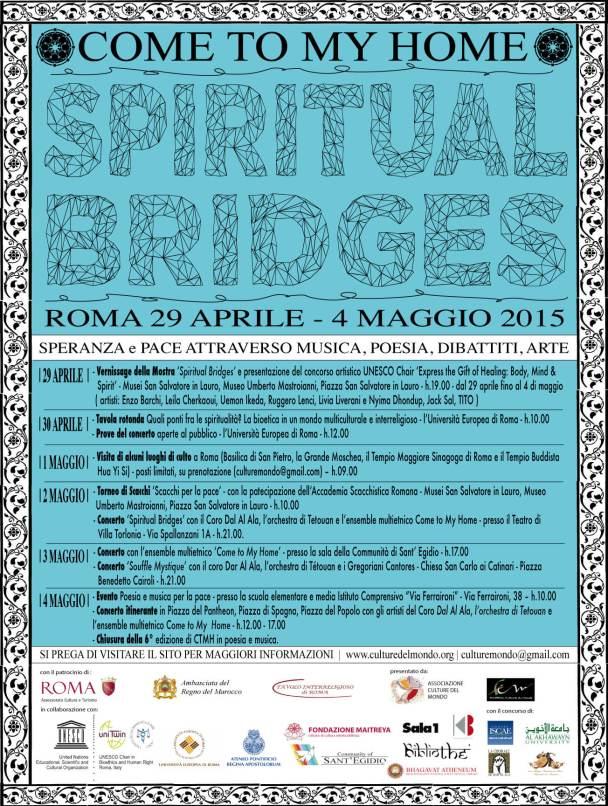 Spiritual Bridges - Come to My Home - Programma 2015