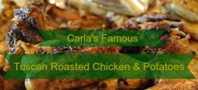 Tuscan Roasted Chicken & Potatoes Recipe