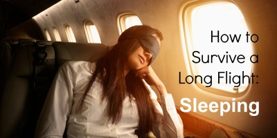How To Survive a Long Flight : Sleeping