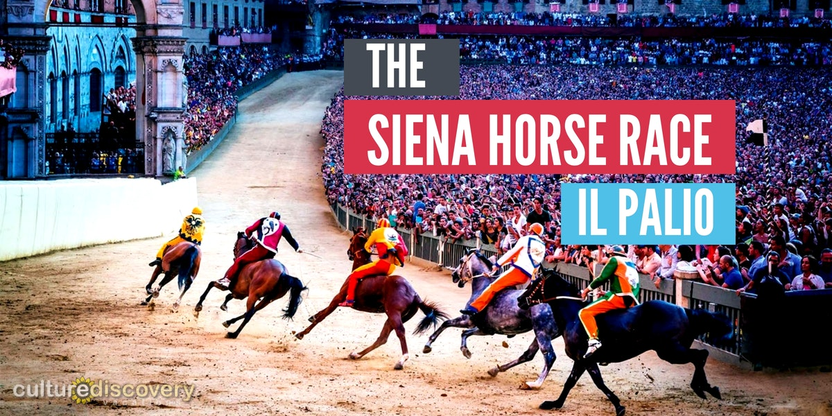 The Siena Horse Race - Palio di Siena-CDV Italy Cooking