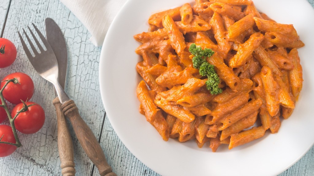 Penne Vodka can have an added protein like assuage for more Italian flavor