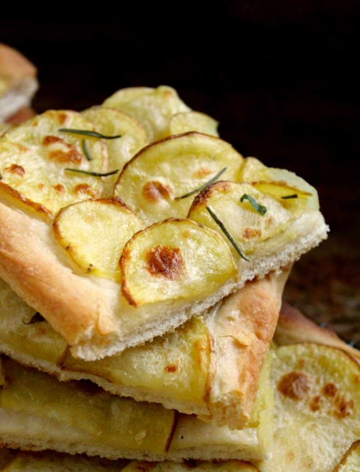 Pizza with potatoes and rosemary