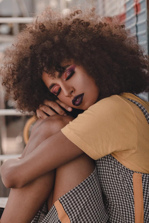 Black woman relaxing
