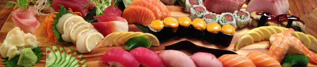 Cultured Pearl Sushi & Kitchen Specials - Photographs of sushi plates