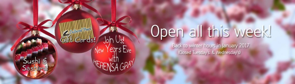 Join Us! New Years Eve for an evening of celebration with KERENSA GRAY!