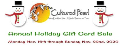 2020 Annual Holiday Gift Card Sale
