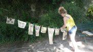 N'oublions pas de sécher nos empreintes au soleil !