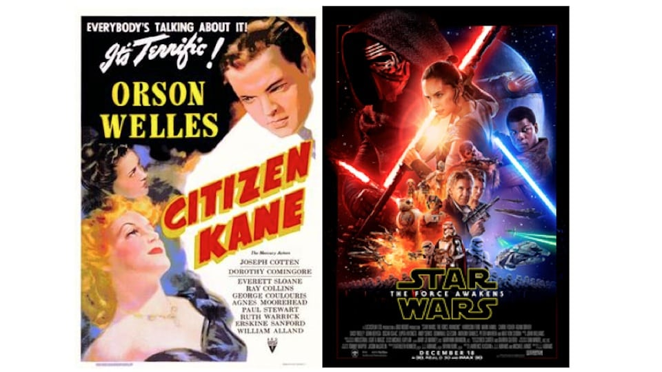Citizen Kane and Star Wars Posters