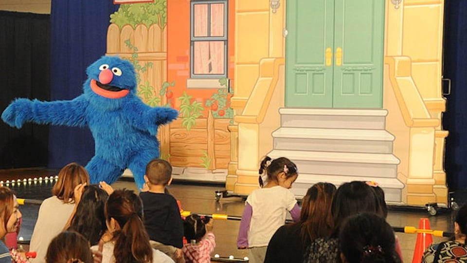 Cookie Monster at USO (Public Domain)