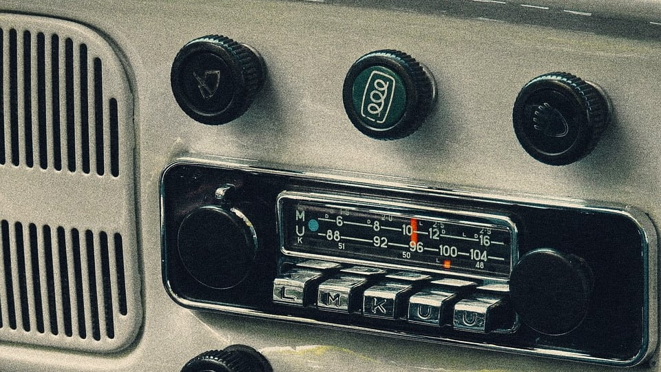 Old time car radio (Public Domain)