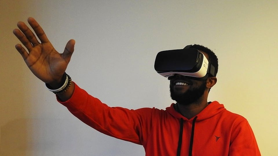 Man with VR Headset (Public Domain)